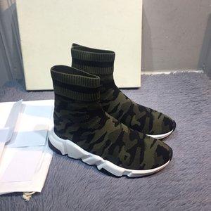 2020 Designer Sock Shoes Triple Black White Men Women Fashion Sneakers ArmyGreen blue Fashion Womens Trainer Runner Platform Shoe 35-44