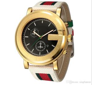 Top nuevo y lujoso par de diamantes relojes de acero inoxidable de los hombres relojes de cuarzo a prueba de agua moda mujer raya lienzo reloj