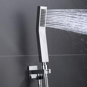 Di alta qualità in ottone a mano Set con montaggio a parete tenuto in mano d'ottone supporto della testina di ottone Tubo Acqua risparmio doccia spruzzatore