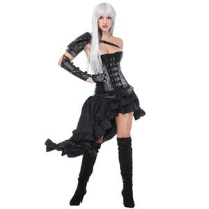 Black Armour Vintage Korsett per le donne Sexy Corsetto Bustier Dress Burlesque Costume Steampunk Abiti vittoriani Abbigliamento gotico