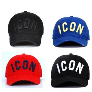 DSQICOND2 DSQ2 Yeni Pamuk Beyzbol şapkası ICON Mektupları Beyzbol Snapback Şapka İçin Erkekler Kadınlar Baba Şapka Nakış Casual Cap Hip Hop Ca Caps Yıkanmış