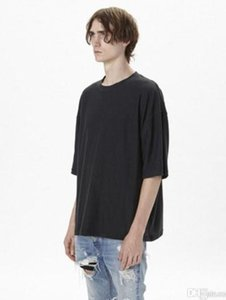 oversized t shirt homme Kanye west clothes Season style t-shirt hip hop t shirt streetwear mens t shirts5hXp#