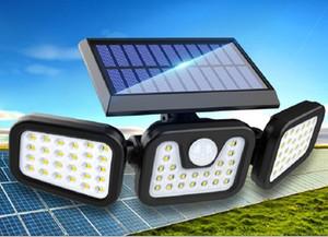 2020 Nouvelle porte lumière 3 têtes solaire éclairage cour extérieure lumière induction petite rue LED décoration de jardin lumière