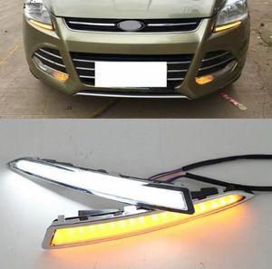 2 PZ LED Daytime Running Light per Ford Escape Kuga 2013 2014 2015, Turning Yellow Signal Relay Impermeabile Car 12V LED DRL