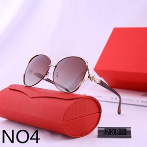 Designer-Sonnenbrillen Luxus-Sonnenbrillen für Frauen Full Frame Adumbral Goggle Strand Gläser UV400 Frau Car2399 5 Farboptionen mit Box