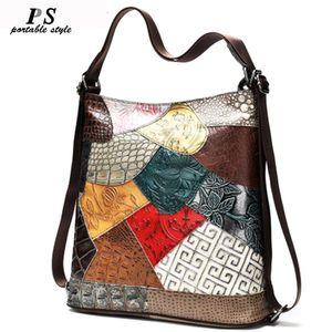 Vintage women backpack 100% genuine leather backpack for laptop female school bag for girls travel backpacks mochila