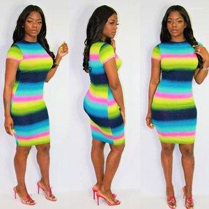 Imprimé Mini robes Night Club Mode Gilet Jupe moulante à paillettes Party lambrissé Vêtements pour femmes d'été arc-en-