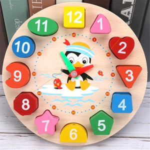 Match Puzzles to Children's Toy Wooden Beaded Threading Clock Digital clock Early Education Tool Fun and Interesting Toys