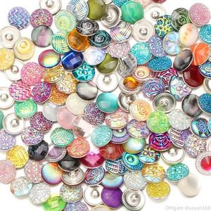 Botão 18 milímetros Resina Noosa snap encanto Beads Fit para Pulseiras Bangles Jóias DIY Acessórios Mixed cor aleatória de alta qualidade botões de pressão