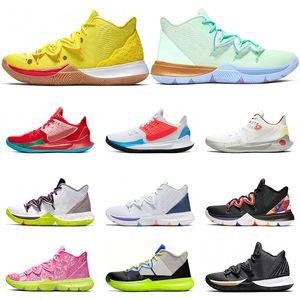 Nike Kyrie 5 ботинки баскетбола черный белый многоцветный Metallic Gold CNY Hero Have День Mamba Менталитет Спортивные спортивные кроссовки размер 7-12
