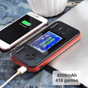 8000mAh Energien-Bank-Spielkonsole Buil-in 416 Retro Game Handportable Retro-Konsole für Kinder Erwachsene Consola Spiele Dropship