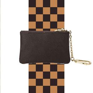 mujeres de los hombres de mini bolsa de cuero, pulse la carpeta de la bolsa acolchada titular v bolsa de la moneda de la moneda carpeta de la llave tarjeta de anillo de cartera de la moneda tarjeta monedero bolsa de Mini