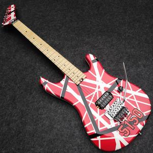 Модернизированный Kramer Gang Edward Van Halen 5150 White Stripe Red Электрогитара Real Floyd Rose Special тремоло, Locking Nut, Whammy Bar