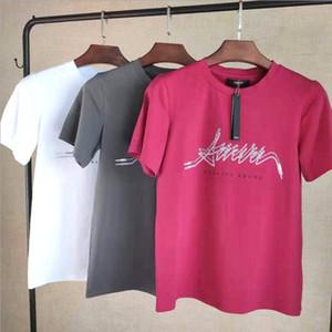 auriculares 20ss AM1R1 impresa camiseta para hombre Hombres Mujeres 19SS estilo de Hip Hop de Calle verano camiseta Camiseta primer golpe impresión de la letra