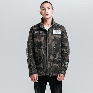 Brief Printed Designer Teenager Kleidung beiläufig plus Größe Mens Jacket Street Styles Camouflage Herren Jacke Mode