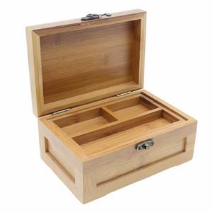 الخيزران صندوق مجوهرات المنظم حالة صندوق خشبي صينية لتخزين هدايا عيد الميلاد الحاضر