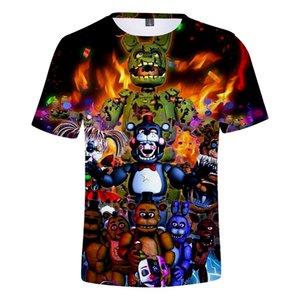 Fnaf 3D T shirt 2019 New Boy FNAF T shirts Five Nights at Freddy's Summer Streetwear Tshirt T-shirt Anime Tops Mens Clothing T200605