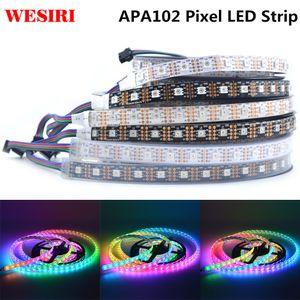 1м / 5м APA102 SK9822 Смарт LED Pixel Strip 30/60/72/96/144 СИД / Пиксели / м IP30 / IP65 / IP67 DC5V APA102C 5050 RGB светодиодные ленты
