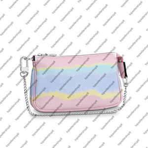 실버 체인 넥타이 염료 지갑 M69269 ESCALE MINI 포 셰트 ACCESSOIRES 여성 거대한 캔버스 미니 디자이너 클러치 호보 작은 가방