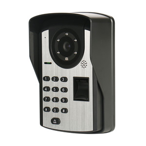 7 inch fingerprint password remote control unlock video doorbell night vision waterproof electronic color visual intercom smart doorbell