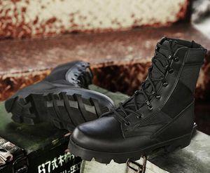 contra el cuero de lujo zapatos respirables 2019 Ejército de los aficionados de la moda botas altas de absorción de impactos de arranque zapatos de entrenamiento de fitness Deportes