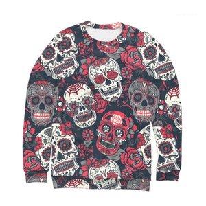 Halloween Mens Designer Sweat Skulls imprimé fantaisie chaud style à manches longues encolure ras du cou Sweatshirts Mode Vêtements pour hommes