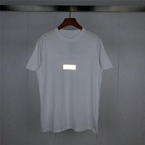 Mens T Shirt Mens Roupa Reflectora Carta Imprimir Verão Camiseta Hip Hop Homens Mulheres de manga curta tamanho M-XXL