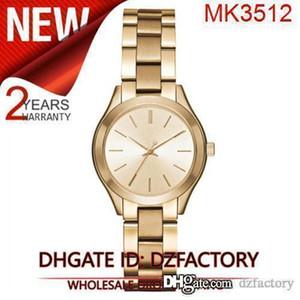 Drop shipping MK3512 MK3513 MK3514 résistant luxe Mini Slim piste Montre en acier inoxydable de femmes