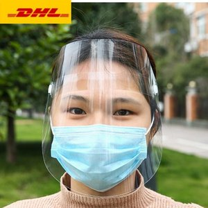US STOCK! Protection transparent masque complet écran facial mascherine forme pour les adultes enfant couvert de pluie visage à cheval envoyer un masque facial gratuit