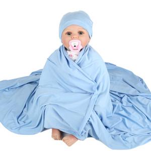 Gloriou Source bébé Réception Couvertures Hat Set Swaddle Set Blanket pour les nouveau-nés