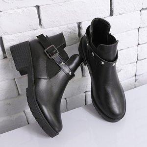 Kadınlar Boot Katı Cortex Kar Boots Toka Farklı Stil Artış Aşınmaya dayanıklı İngiliz Tarzı Deodorant Seksi Yüksek Topuklar 35-40