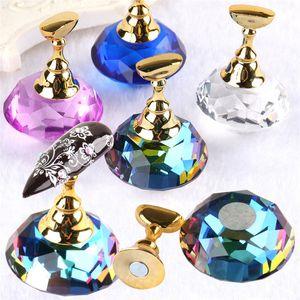 Chic magnétique Faux ongles Conseils d'affichage Plateau Porte-rack cristal Nail Art manucure pratique Affichage Shelf Outils Nail Salon Set