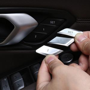 Стайлинг автомобиля Регулировка сиденья кнопки памяти блестки украшения наклейки для BMW 3 серии G20 G28 2020 ABS авто аксессуары для интерьера