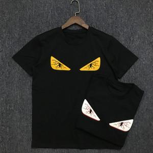 19SS Mens T Shirt Fashion Trend Casal de manga curta Mens Imprimir Esporte Tees Preto Tamanho S-2XL