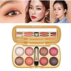 8 Colors Eye Shadow Palette Not Easy To Smudge Waterproof Diamond Eye Shadow Women Makeup Long Lasting Natural Brighten TSLM1
