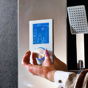 Inteligente Duche Termostato Banho Digital torneira termostática Chuveiro Painel de Controle termostático Douche Válvula Mixer Digital