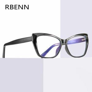 RBENN TR90 Cat Eye Light Blue Blocco Strain Occhiali Donna Anti occhi Giochi elettronici Occhiali Anti Blue Rays Eyewear UV400