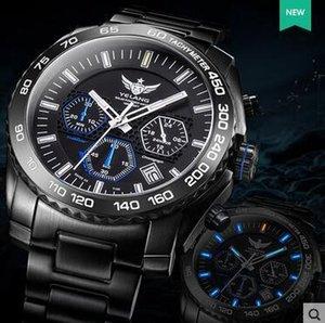 Yelang Men Quartz Watch Solar Energy Tritium T100 Japan TOP Movement WR100M Sapphire Date Energy Display Military Watch T200409
