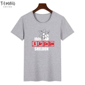 Women The Big Bang Theory Graphic Tee Shirt Femme Funny This Is Sheldon T Shirt Korean Tops Kawaii Streetwear Gift