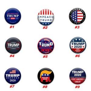 Trump Broş 2020 Trump Başkanı Seçim Banner Rozet Amerika Büyük Donald Trump Seçim Kol bandı Rozet iğneler Parti Favor ZZA1946 tutun
