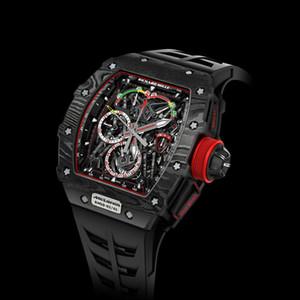 pulseira de borracha de alta qualidade luxo preto designer de relógio função completa dos homens esportes cronógrafo de quartzo de moda relógios mens relógios RM 50-03