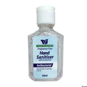 60ml Anti bacteriana Hand Sanitizer álcool desinfecção Hand Wash Gel Crianças Adulto Wash gratuito Quick Dry Hidratante Mão Sanitiser DBC BH3399