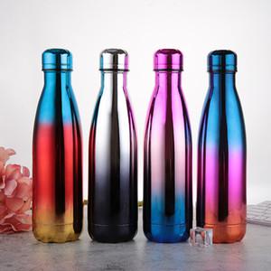 Бутылка воды из нержавеющей стали 17oz двустенных Изолированный Cola форма бутылки для холодных и теплых напитков BPA Free Металл спорта бутылки