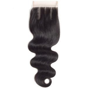 أعلى درجة بلدي ملكة brazlian الإنسان الشعر 4 * 4 HD السويسري الدانتيل إغلاق الأمامية موجة الجسم مع شعر الطفل