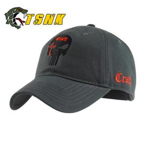 TSNK Berretto da baseball in cotone donne di marca uomini tattico berretti militari Sigilli Punisher American Sniper cappello da baseball T200104