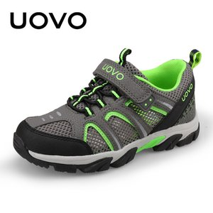UOVO Марка дети кроссовки для мальчиков 2018 Новый дышащий спортивная обувь сетка дети кроссовки легкий вес размер обуви 29-37#