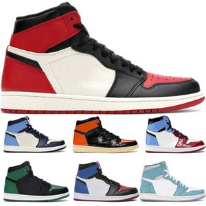 Cheap New 1 Women Mens Classic Basketball Shoes 1s Black Green White Blue Red Outdoor Athletic Designer Casual Sports Sneaker 36-47