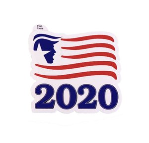 Donald Trump Sticker Trump 2020 4 Styles Adhesive Sticker Decoration Bumper Stickers Window Door Fridge Notebook Car Sticker OOA7904