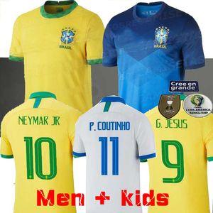 البرازيل كرة القدم جيرسي 2020 2021 Brasil Football Shirts 20 21 Camisa de Futbol Copa America Camiseta de Fútbol Coutinho Firmino Jesus Neres