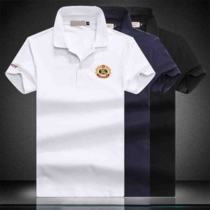 Mens Casual Polos Lapel Neck Deer Design Pure Color Short T Shirts Man Shirt Top For Summer Apparel Clothing M-4XL